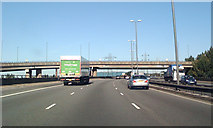 SP0990 : M6 North through junction 6 by Robin Stott
