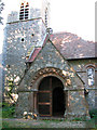 TF6923 : All Saints' church in Roydon - south porch by Evelyn Simak