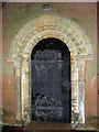 TF6923 : All Saints' church in Roydon - Norman south doorway by Evelyn Simak