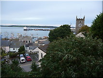 SW8032 : October evening view over Falmouth by Jeremy Bolwell