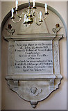 TF6415 : All Saints' church in North Runcton - memorial by Evelyn Simak