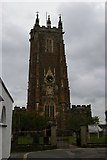 ST0207 : Cullompton Church: the tower from the west by Christopher Hilton