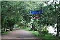 TQ2376 : Thames Cycleway leaves the Thames Path by N Chadwick