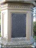 SH5371 : Plaque on Britannia Bridge memorial by John Firth