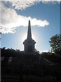SH5371 : Britannia Bridge memorial by John Firth