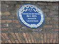 TQ3082 : Charles Dickens plaque by Stephen Craven