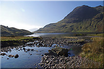 NY2807 : Stickle Tarn and Harrison Stickle by Ian Taylor