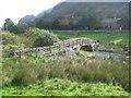 SH5456 : Footbridge over Afon Gwyrfai at Betws Garmon by John Firth