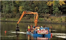 J3371 : Dredging the River Lagan, Belfast -  2010/11 (26) by Albert Bridge