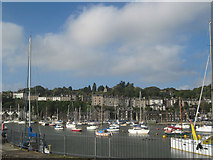 SH5638 : Porthmadog Harbour from end of station by John Firth