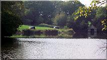 SJ8959 : Fishermen on the lake by Jonathan Kington