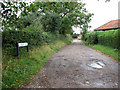 TG1340 : Allotment Lane in West Beckham by Evelyn Simak