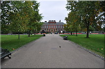 TQ2579 : London : Kensington Gardens - Footpath to the Palace by Lewis Clarke