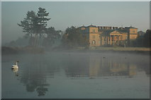 SO8844 : Croome Court on a misty morning by Philip Halling