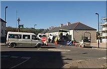 SX5973 : Roadworks, Princetown by Derek Harper