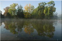 SO8843 : Autumn colours reflected in Croome River by Philip Halling