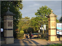 TQ3370 : Crystal Palace Park entrance by Malc McDonald