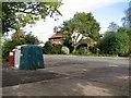 TG3211 : Recycling bins beside Woodbastwick Road, Blofield Heath by Evelyn Simak