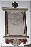 TG4802 : All Saints' church in Belton - C18 memorial by Evelyn Simak