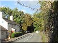 SJ4507 : Road beside Annscroft church by Row17
