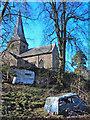 SO3914 : Abandoned souls near St Teilo's Church by Trevor Rickard