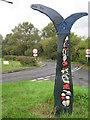 TR1233 : National Cycle Network Milepost near Botolph's Bridge by David Anstiss