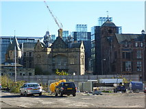 NT2572 : Old Royal Infirmary building site by kim traynor