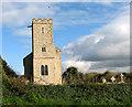 TF7633 : All Saints' church in Bircham Newton by Evelyn Simak