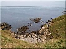 SH2035 : A small cove south-west of Afon Gyfunus by Eric Jones