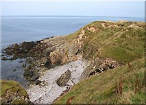 SH2035 : Cove near the tip of Penrhyn Melyn viewed from the south west. by Eric Jones