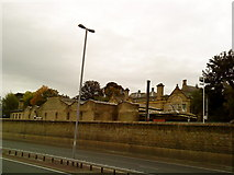SE1039 : Bingley Railway Station from the canal towpath by Andrew Abbott