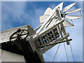 TQ9435 : Woodchurch Windmill tail fan by Oast House Archive