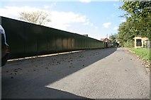 SU5985 : Painted fence on Ferry Lane by Bill Nicholls
