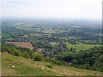 SO7643 : Upper Colwall from the Malvern Hills path by Andrew King