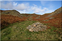 NY3404 : Cairn by the path on Loughrigg Fell by Bill Boaden