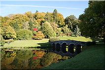 ST7733 : The Palladion bridge at Stourhead. by Pam Goodey