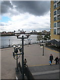 TQ3680 : Steps at Westferry Circus by Rod Allday