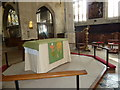 SU6352 : St Michael, Basingstoke: Lord's Table by Basher Eyre