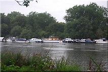 TQ1773 : Boats on Horse Reach, River Thames by N Chadwick