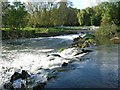SP1652 : Luddington Weir, River Avon by David P Howard