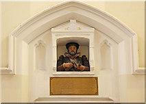 TQ3283 : St James, Prebend Street, London N1 - Effigy if William Lambe by John Salmon