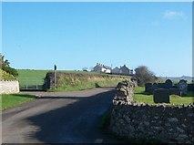 SH1727 : Staggered crossroads near Eglwys Newydd by Eric Jones