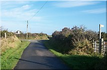 SH1728 : Approaching the Cyll-y-Felin Fawr crossroads by Eric Jones