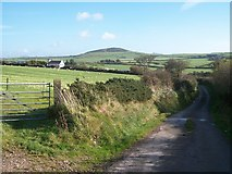 SH1728 : View eastwards from near Ty Isaf by Eric Jones