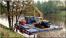 J3371 : Dredging the River Lagan, Belfast -  2010/11 (42) by Albert Bridge