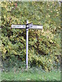TM3565 : Roadsign at junction with Hill Farm Road by Adrian Cable