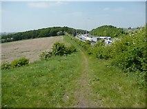 SE2526 : Footpath alongside the M62, Morley by Humphrey Bolton