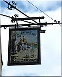 SJ9223 : Coach & Horses (2) - sign, 4 Mill Bank by P L Chadwick