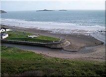 SH1726 : Sea defences at the estuary of Afon Daron by Eric Jones