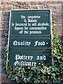 NU1241 : Information Sign, Holy Island, Northumberland by Christine Matthews